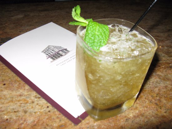Restaurant August: The perfect Mint Julep made with Knob Creek