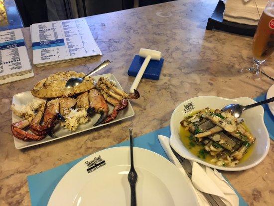 Pranzo di pesce ottimo
