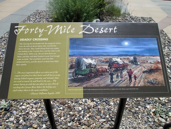 Elko, NV: Informative signage documents the challenges faced by the pioneers.