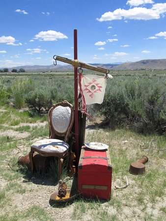 Elko, NV: Discarded possessions littered the 40-mile desert stretch of the trail.