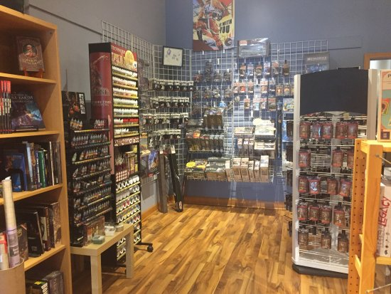 Downers Grove, IL: Great selections of board games, Star Wars models and decks of magic and other game cards.