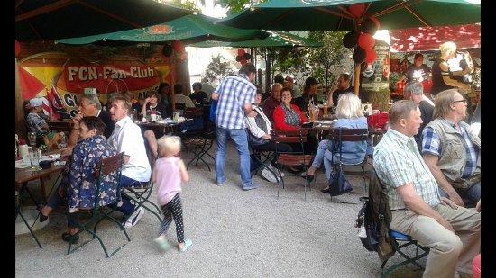Schwabach, ألمانيا: Biergarten