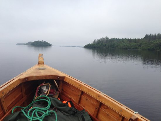Gowran, Ireland: An early morning ride in a hand-crafter boat near Ashford Castle