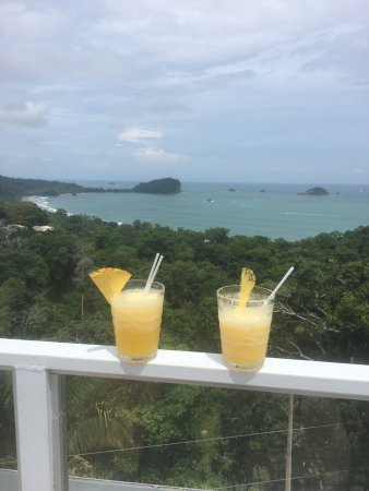 La Mansion Inn: View from the sky lounge with our welcome cocktails!