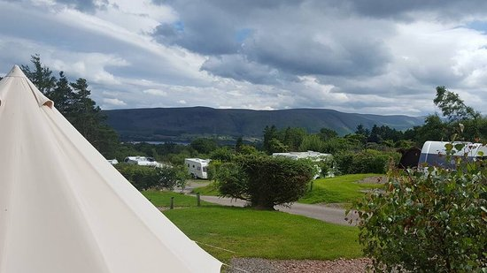 Watermillock, UK: View from bell tents