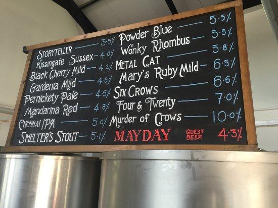 Lower Beeding, UK: Springfest beer menu