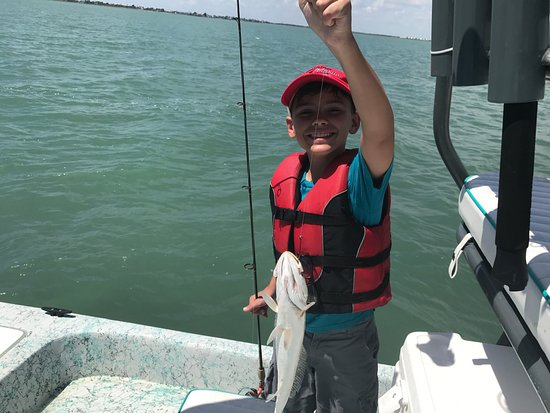 Cameron, TX: His first Trout!!!!