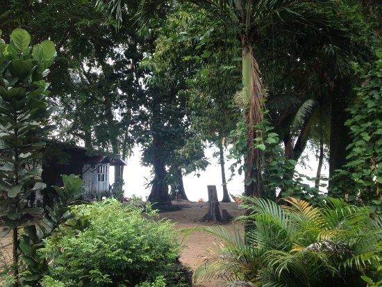 Tekek, Malaysia: Spiaggia, chalets bordo mare, centro diving