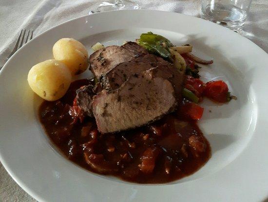 Knappgarden Pension & Restaurant: Wild boar steak filet