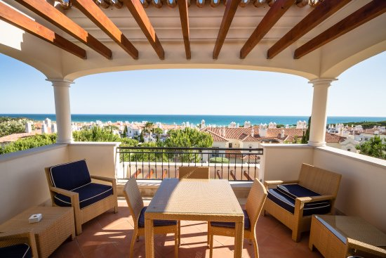 Dunas Douradas Beach Club: Apartment J54 - main terrace area (same floor as apartment)