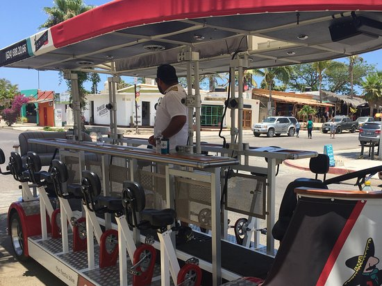 "Todos Santos, Mexico: The cool locomotion ""bike"""
