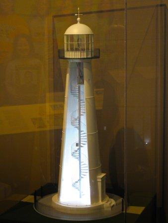 Biloxi Lighthouse cutaway model at Biloxi Visitors Center
