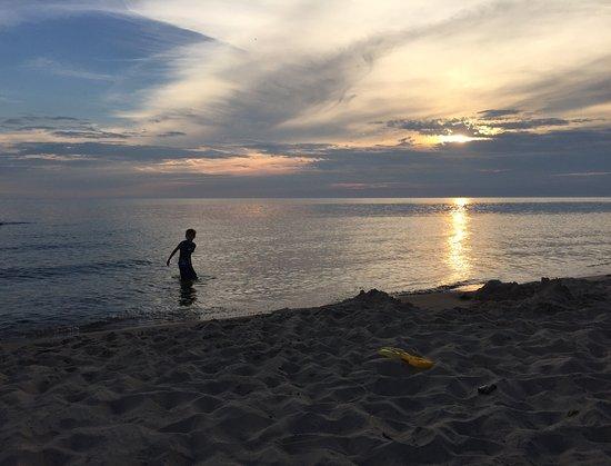 Montague, MI: Sunset viewing.