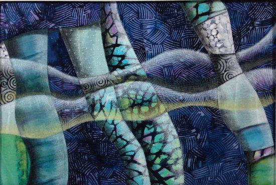 Pacific Beach, WA: In the Flow, fiber art by Karin Phifer