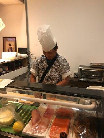 LaGrange, جورجيا: Hand rolled sushi Yama sushi bar.