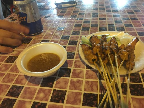Satay & beer = good times