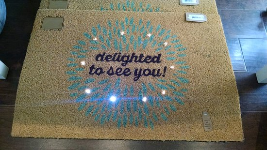 Solana Beach, Kalifornien: This door mat lights up when you step on it!  Fun!