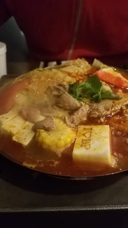 Hacienda Heights, CA: We got a basic hotpot to share with extra noodles and meat