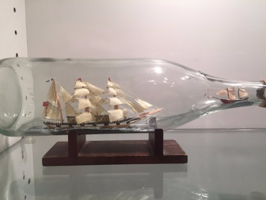 """Ships of the Sea Maritime Museum: The larger of these little ships was less than 4"""" long."""