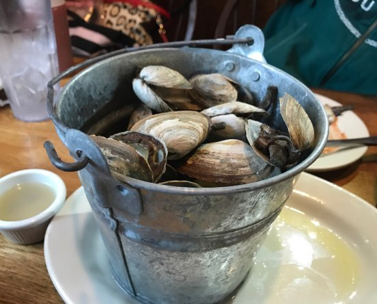 Weathervane Seafood Restaurant: Delicious steamed clams!