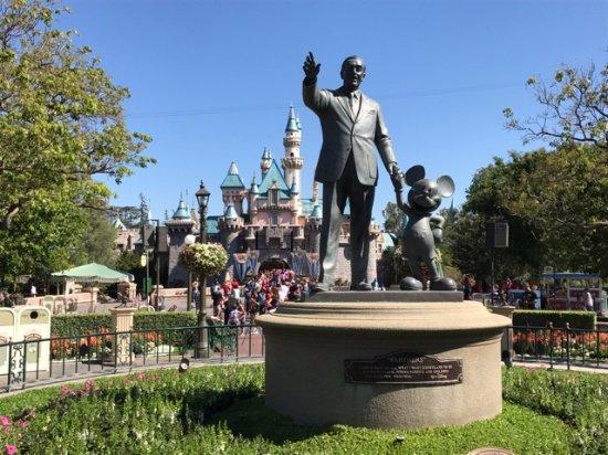 Statue Of Originator Walt Disney Greets Guests Picture Of