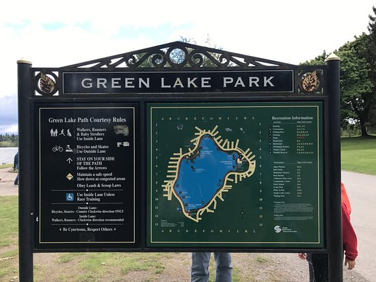 green lake seattle map Map Picture Of Green Lake Park Seattle Tripadvisor green lake seattle map