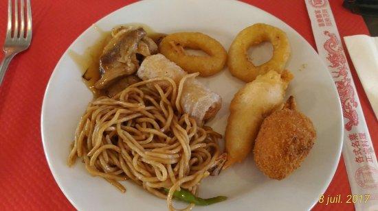 Fixin, France : 1ère assiette plat principal