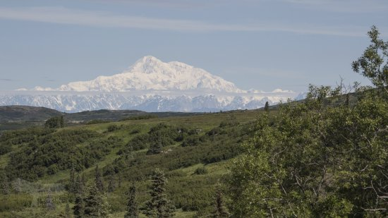Caribou Lodge Alaska: Mt.Denali from Caribou Lodge