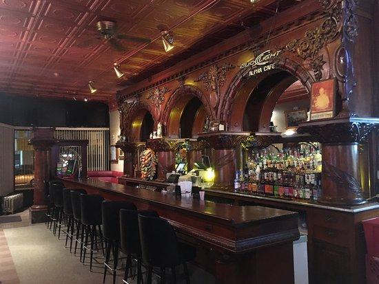 Wapakoneta Landmark since 1893 Hand Carved Brunswick Bar Set