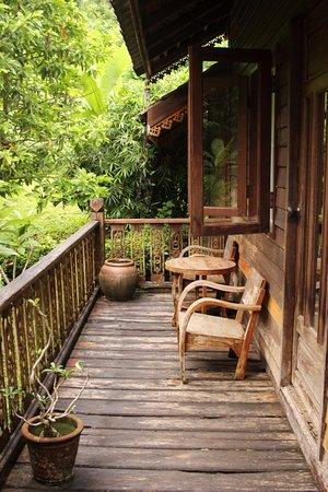 Boon Lott's Elephant Sanctuary : The veranda of our cabin...