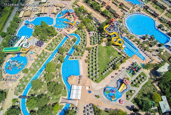 Agios Ioannis, Greece: Air photo from Aqualand Water Park, Corfu!