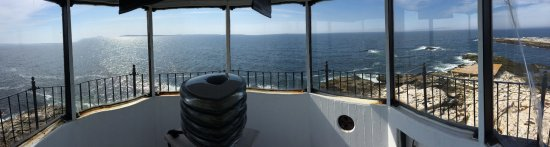 Cuckold Lighthouse: panorama from inside the lighthouse