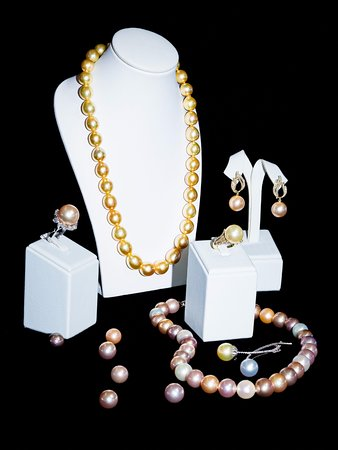 Chalong, Thailand: Gold, Pink, Purple Color Pearls