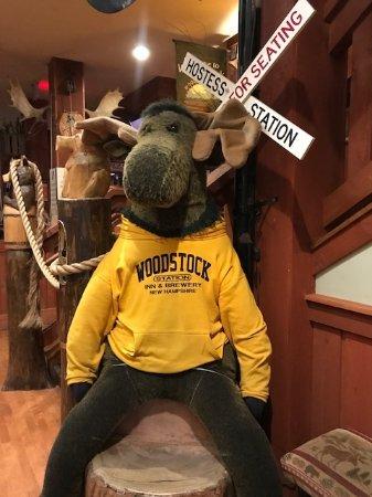 Woodstock, NH: cute moose inside