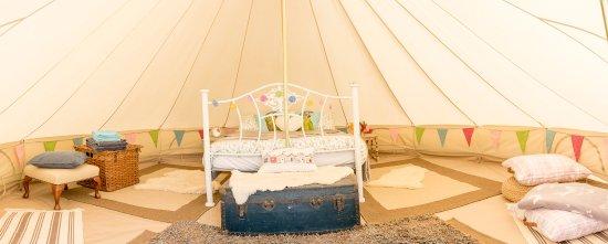 Aberdyfi (Aberdovey), UK: Inside bell tent