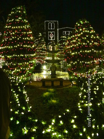 Adairsville, GA: Christmas lights at the Ruins