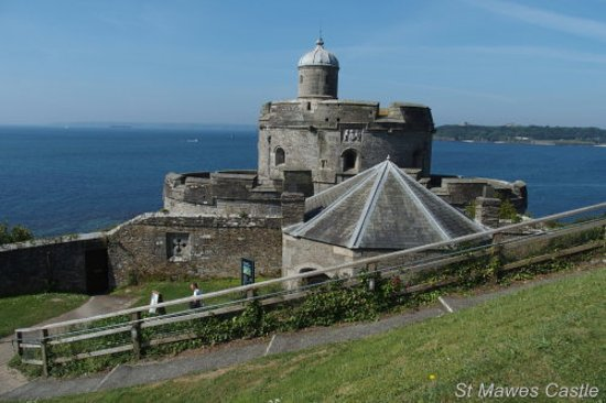 St Mawes, UK: View from the hill behind the castle