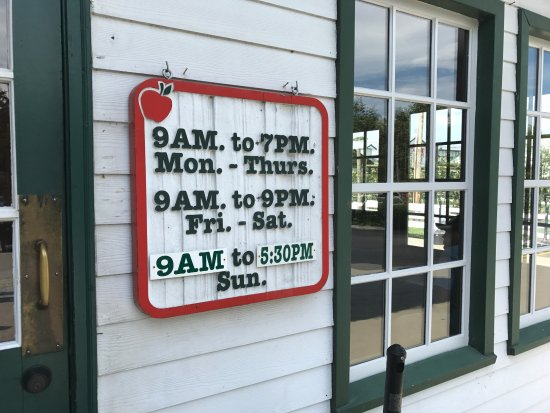 The Apple Barn Cider Mill And General Store: Hours of Operation at Apple Barn General Store