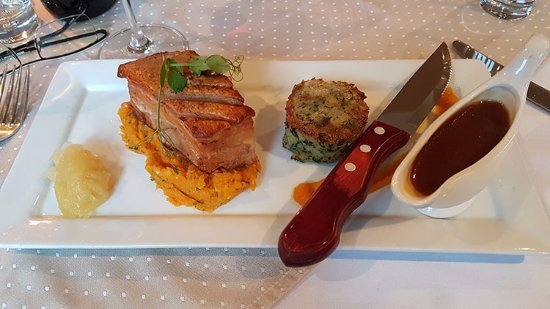 Llanbedrog, UK: Crispy Pork belly