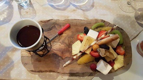 Llanbedrog, UK: Chocolate fondue