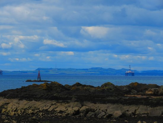 Fife, UK: looking west towards Edinburgh