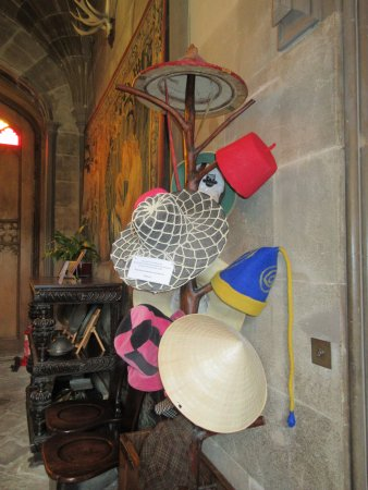 Alcester, UK: hat collection from different countries