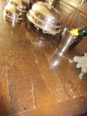 Alcester, UK: Table was hacked in reformation
