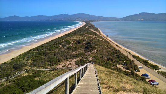 Bruny Island, Australien: those stairs...