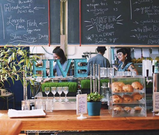 Kutztown, PA: HIVE is a new organic cafe serving local, organic food.