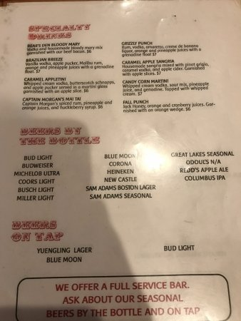 Cambridge, OH: more drinks