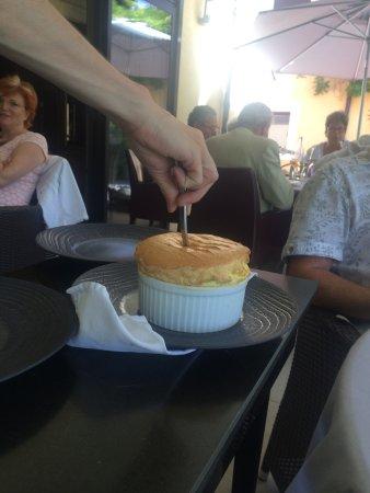 Restaurant Hotel Baud: soufflé au citron vert
