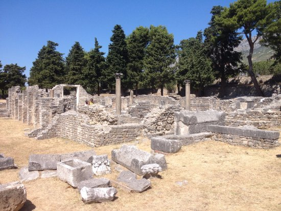 Solin, Kroasia: From the beginning of the site.