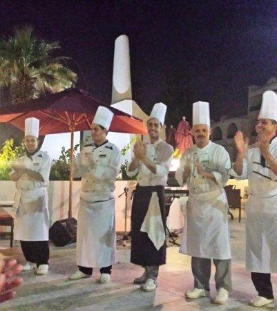 Hasdrubal Thalassa Hotel & Spa Port El Kantaoui: Presentation des cuisiniers