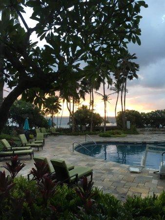 Hilton Garden Inn Kauai Wailua Bay Sunrise View From Room